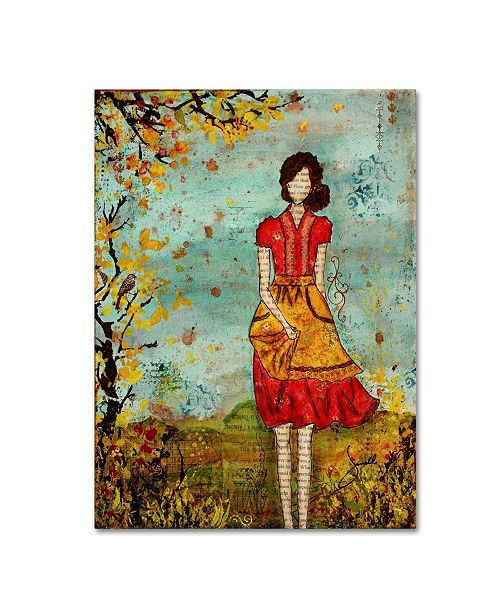 "Trademark Global Janelle Nichol 'A Prairie Autumn Day' Canvas Art - 19"" x 14"" x 2"""