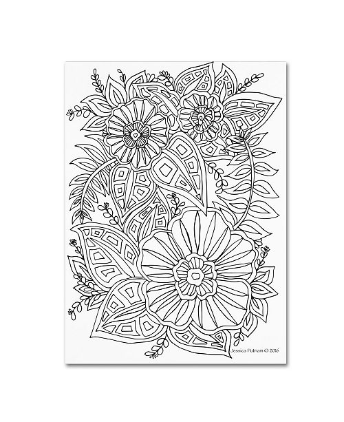 "Trademark Global Jessica Putnam 'Floral 38' Canvas Art - 47"" x 35"" x 2"""