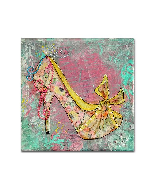 "Trademark Global Janelle Nichol 'Floral Times' Canvas Art - 18"" x 18"" x 2"""