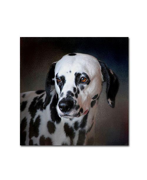 "Trademark Global Jai Johnson 'The Firemans Dog Dalmatian' Canvas Art - 24"" x 24"" x 2"""
