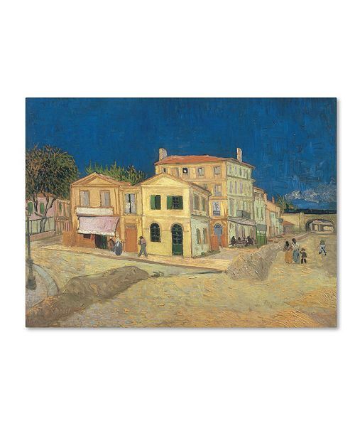 "Trademark Global Vincent van Gogh 'The Yellow House' Canvas Art - 24"" x 18"" x 2"""