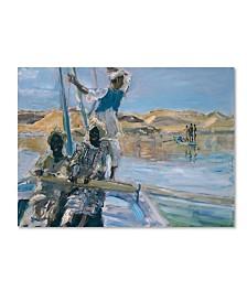 "Max Slevogt 'Pirates' Canvas Art - 19"" x 14"" x 2"""