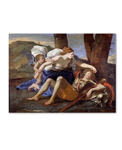 "Trademark Global Nicolas Poussin 'Rinaldo And Armida' Canvas Art - 32"" x 24"" x 2"""
