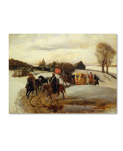 "Trademark Global Vyacheslav Schvarts 'The Spring Pilgrimage Of The Tsarina' Canvas Art - 32"" x 24"" x 2"""
