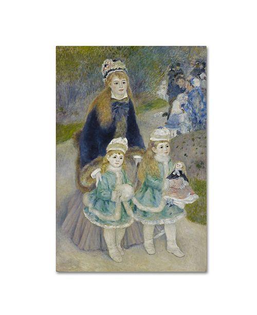 "Trademark Global Renoir 'Mother And Children' Canvas Art - 24"" x 16"" x 2"""