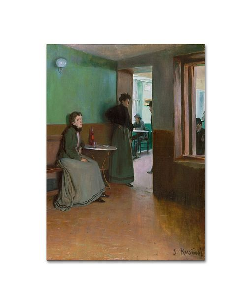 "Trademark Global Santiago Rusinol 'Interior Of A Cafe In Spain' Canvas Art - 32"" x 24"" x 2"""