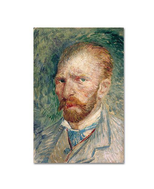"Trademark Global Van Gogh 'Selfportrait 4' Canvas Art - 19"" x 12"" x 2"""