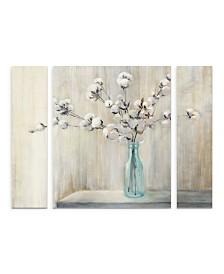 """Julia Purinton 'Cotton Bouquet' Multi Panel Art Set Large - 30"""" x 41"""" x 2"""""""
