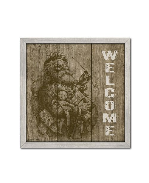 "Trademark Global Jean Plout 'Welcome Santa' Canvas Art - 18"" x 18"" x 2"""