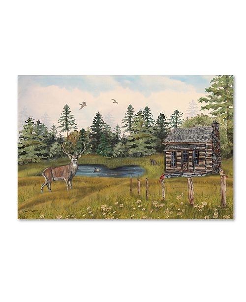 "Trademark Global Jean Plout 'Wilderness Lodge 12' Canvas Art - 32"" x 22"" x 2"""