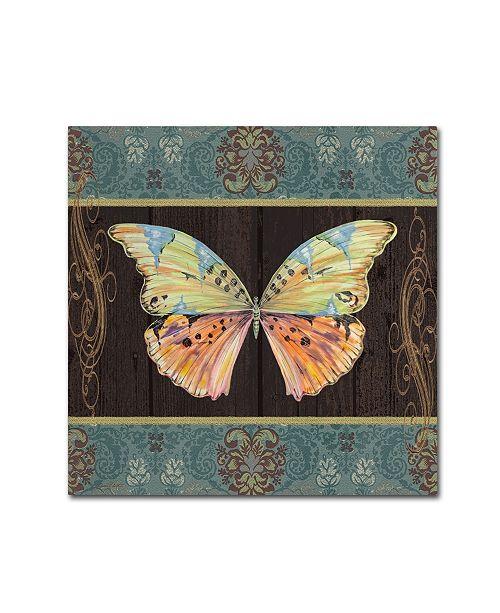 """Trademark Global Jean Plout 'Butterflies 2' Canvas Art - 14"""" x 14"""" x 2"""""""
