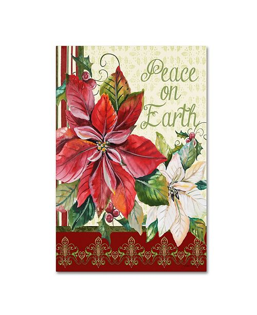 """Trademark Global Jean Plout 'Peace On Earth' Canvas Art - 19"""" x 12"""" x 2"""""""