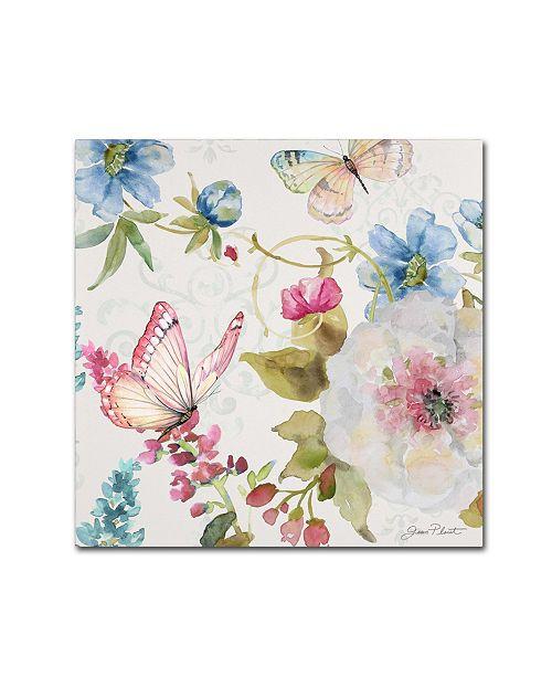 """Trademark Global Jean Plout 'Garden Bliss 3' Canvas Art - 14"""" x 14"""" x 2"""""""