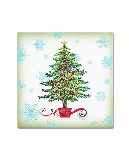 """Trademark Global Jean Plout 'Holiday Celebration 3' Canvas Art - 14"""" x 14"""" x 2"""""""