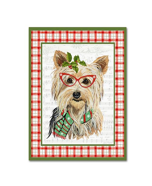"""Trademark Global Jean Plout 'Christmas Song Dogs 5' Canvas Art - 47"""" x 35"""" x 2"""""""