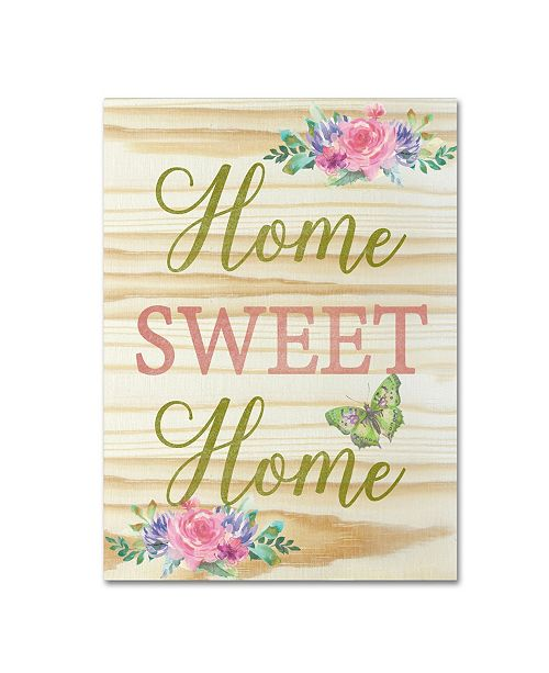 "Trademark Global Jean Plout 'Welcome Home 4' Canvas Art - 19"" x 14"" x 2"""