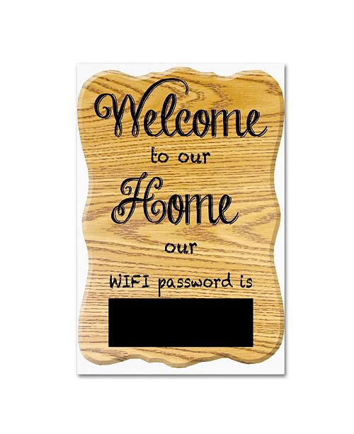 """Trademark Global Jean Plout 'Welcome Home 9' Canvas Art - 19"""" x 12"""" x 2"""""""