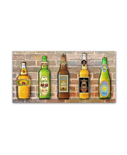 """Trademark Global Jean Plout 'Beer 1' Canvas Art - 47"""" x 24"""" x 2"""""""