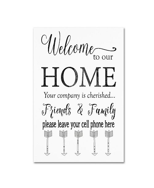 """Trademark Global Jean Plout 'Welcome Home' Canvas Art - 32"""" x 22"""" x 2"""""""