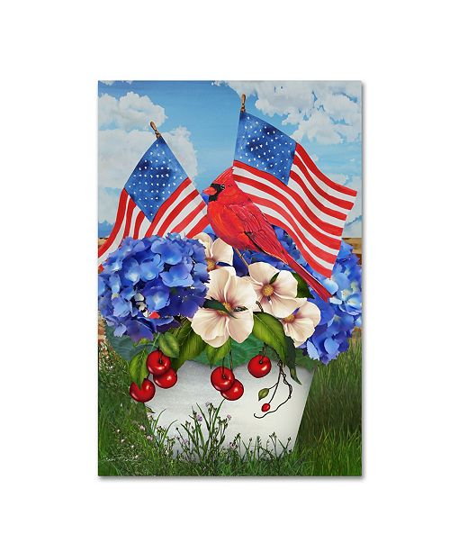 "Trademark Global Jean Plout 'America The Beautiful' Canvas Art - 32"" x 22"" x 2"""