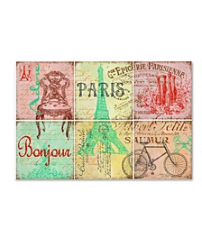 "Jean Plout 'Parisienne 2' Canvas Art - 19"" x 12"" x 2"""