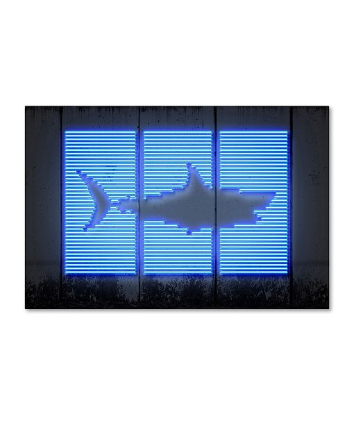"Trademark Innovations Octavian Mielu 'Shark' Canvas Art - 32"" x 22"" x 2"""