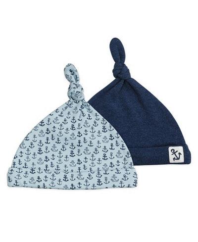 Mac and Moon 2-Pack Nautical Print Top Knot Caps