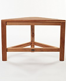 Gala Teak Corner Shower Bench-24""
