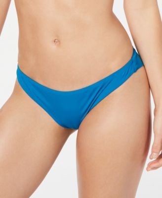 Juniors' Solid Beach Classics Cheeky Bikini Bottoms