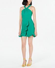 Ruffled Lace-Back Dress