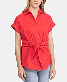 Lauren Ralph Lauren Petite Cotton Top