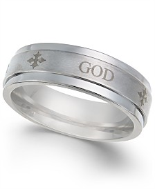 Men's God Honor Strength Cobalt Ring