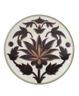 Global Tapesetry Garnet Lotus Accent/Salad Plate