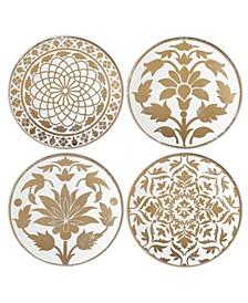 Global Tapestry Gold  Set/4 Tidbits