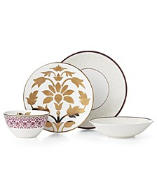 Global Tapestry Garnet 4 Piece Place Setting