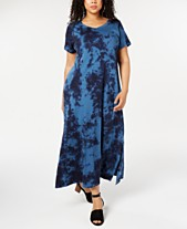 960f282a7 Style & Co Plus Size Tie Dye Maxi Dress, Created for Macy's