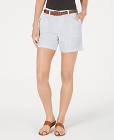 Style & Co Belted Utility-Pocket Shorts, Created for Macy's