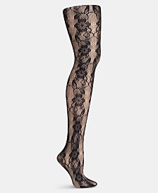 Hanes Plus Size Floral Lace Net Tights