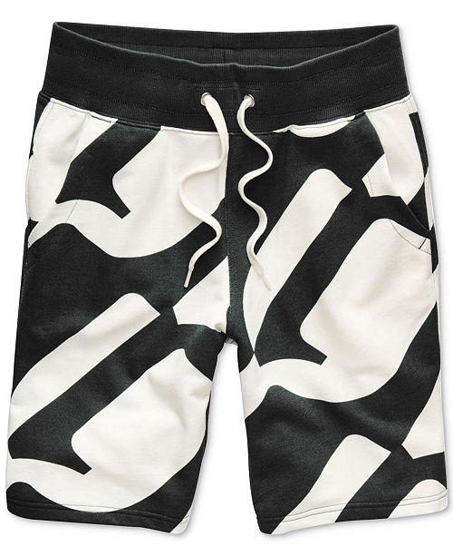 G-Star Raw Men's Geometric Jogger Shorts, Created for Macy's