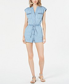Denim Chambray Utility Romper, Created for Macy's