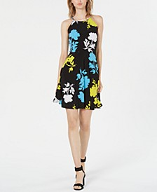 Floral-Print Halter Fit & Flare Dress, Created for Macy's