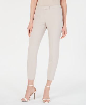 Extended-Tab Crepe Pants