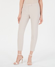 Anne Klein Extended-Tab Crepe Pants