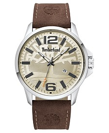 Timberland Men's Bernardston Dark Brown/Cream Watch