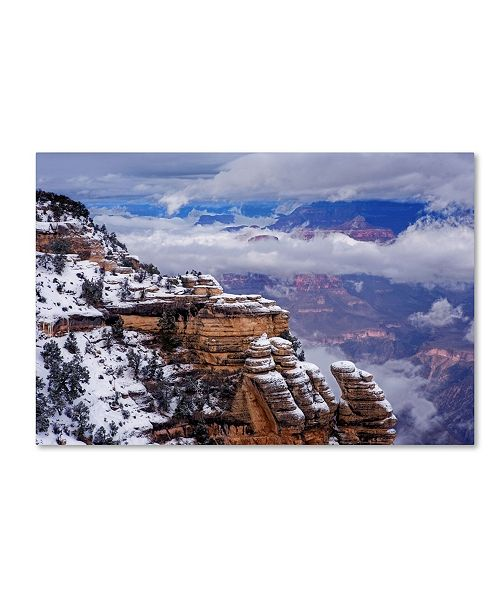 "Trademark Global Mike Jones Photo 'Storm Clouds Mather Point' Canvas Art - 47"" x 30"" x 2"""