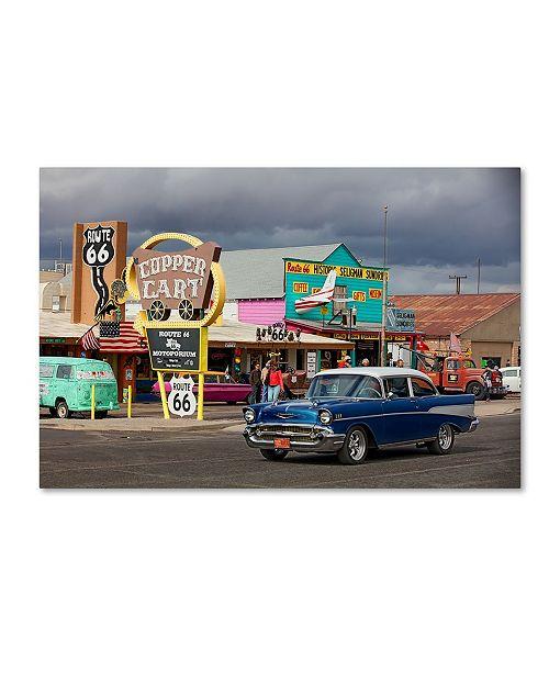 "Trademark Global Mike Jones Photo 'Rt 66 Fun Run Seligman' Canvas Art - 47"" x 30"" x 2"""
