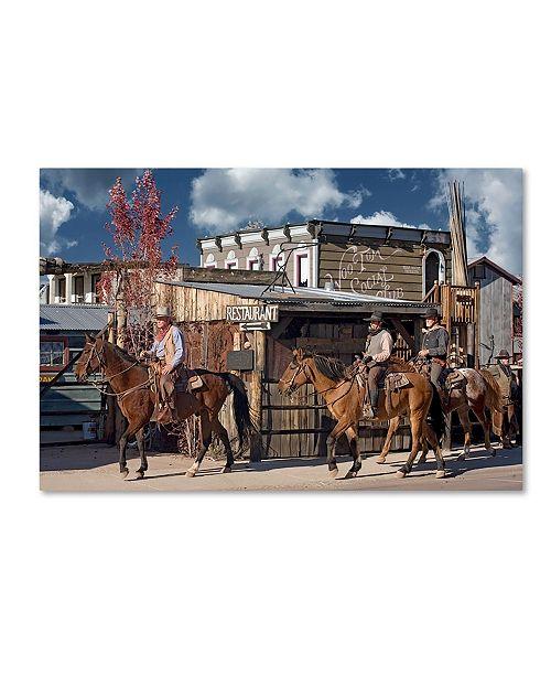 "Trademark Global Mike Jones Photo 'Williams Cowboys' Canvas Art - 47"" x 30"" x 2"""