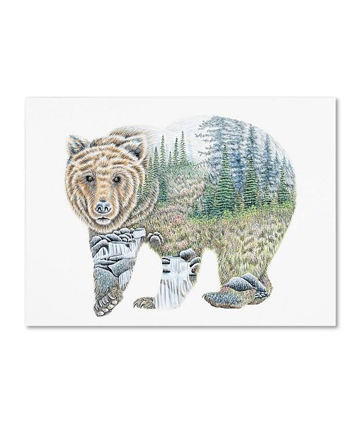 "Trademark Global Michelle Faber 'Scenic Bear' Canvas Art - 24"" x 18"" x 2"""