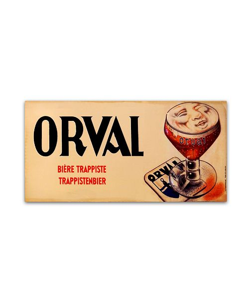 """Trademark Global Vintage Apple Collection 'Orval 2' Canvas Art - 24"""" x 12"""" x 2"""""""