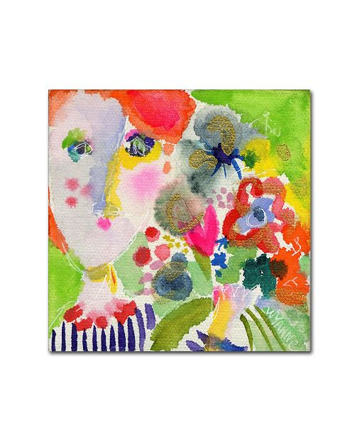 """Trademark Global Wyanne 'She Always Brought The Best Flowers' Canvas Art - 35"""" x 35"""" x 2"""""""